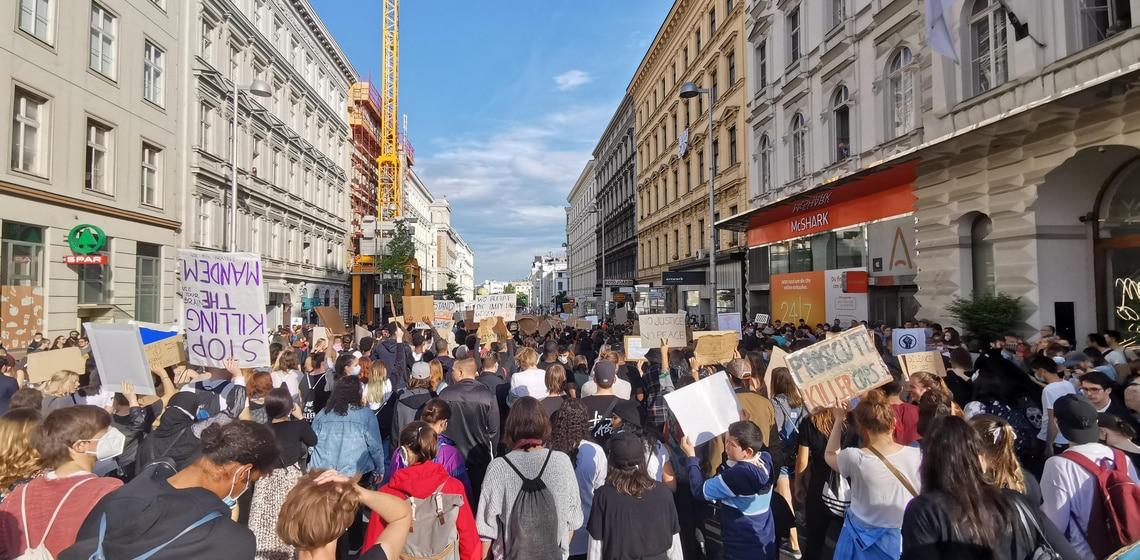 Wien setzt ein klares Zeichen - #blacklivesmatter