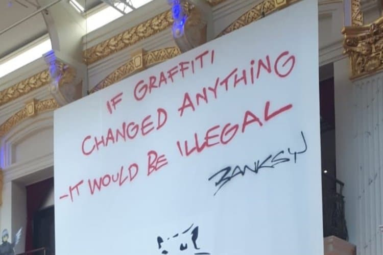 If graffiti changed anything it would be illegal