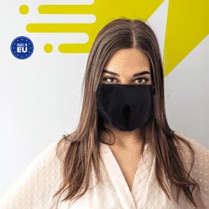 Schwarze wiederverwendbare Schutzmaske