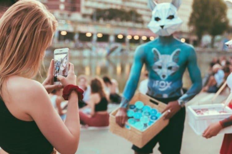 White Fox Nikotin Pouches Promoter in Wien