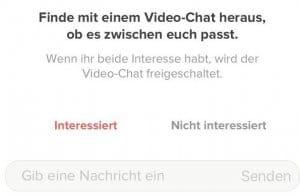 Tinder Videochat Zustimmung
