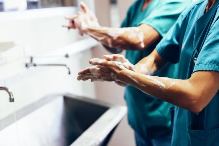 Hände waschen wie