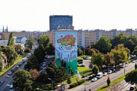 Streetartwerbefläche für die Wien Wahlen 2020 in der Jägerstraße!