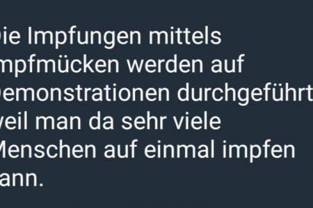 Berlin Demo: Telegram warnt vor Genmücken: Troll oder Dummheit?