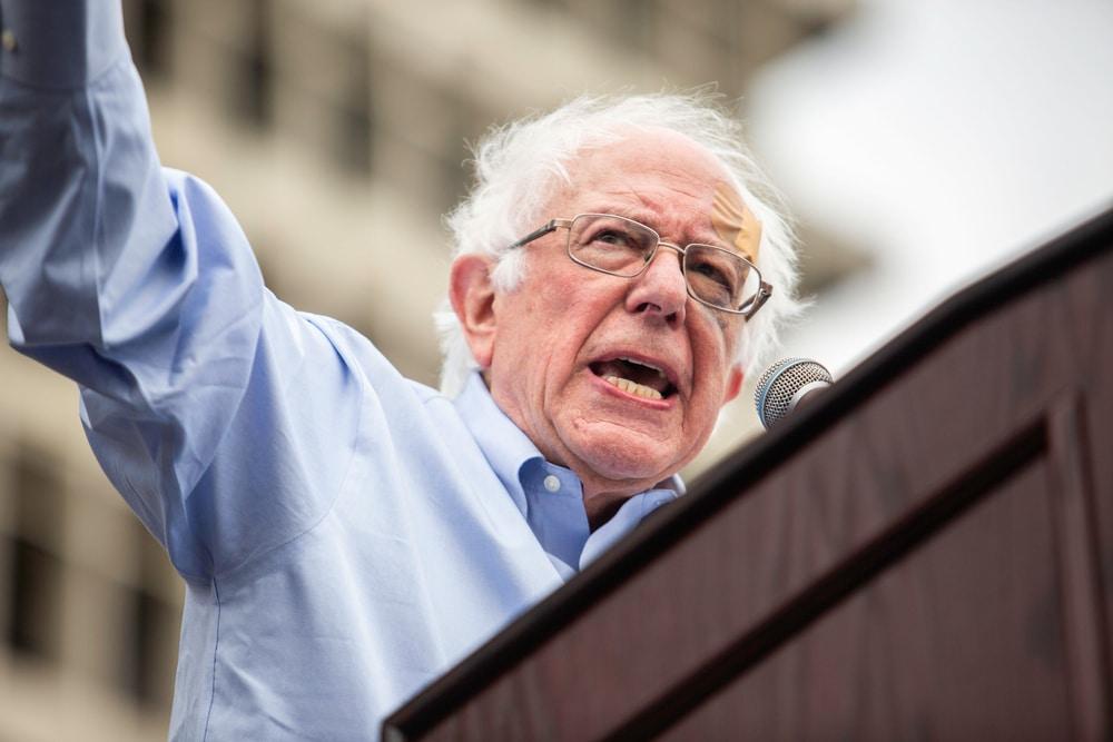 Bernie Sanders kurz vor Wahlende