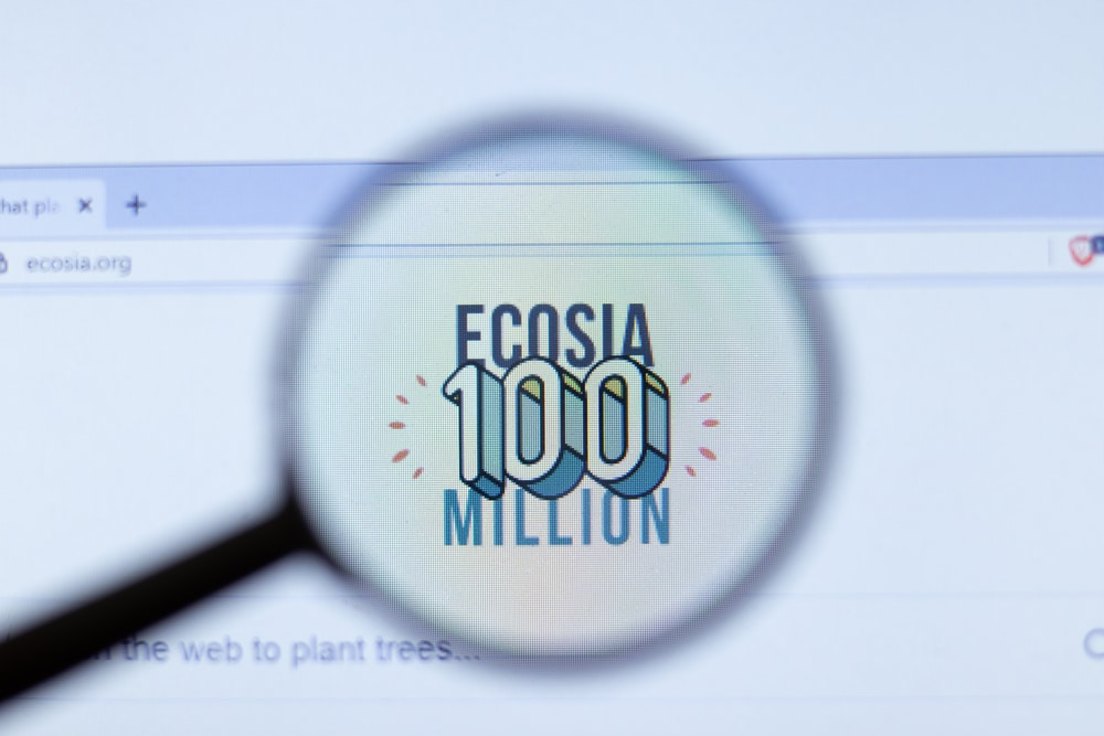 Suchmaschine Ecosia als Purpose Unternehmen