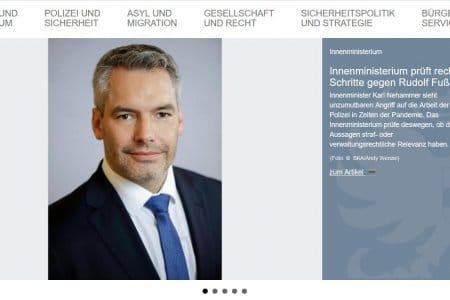 Klage gegen Rudi Fußi: Statuiert Nehammer ein Exempel?
