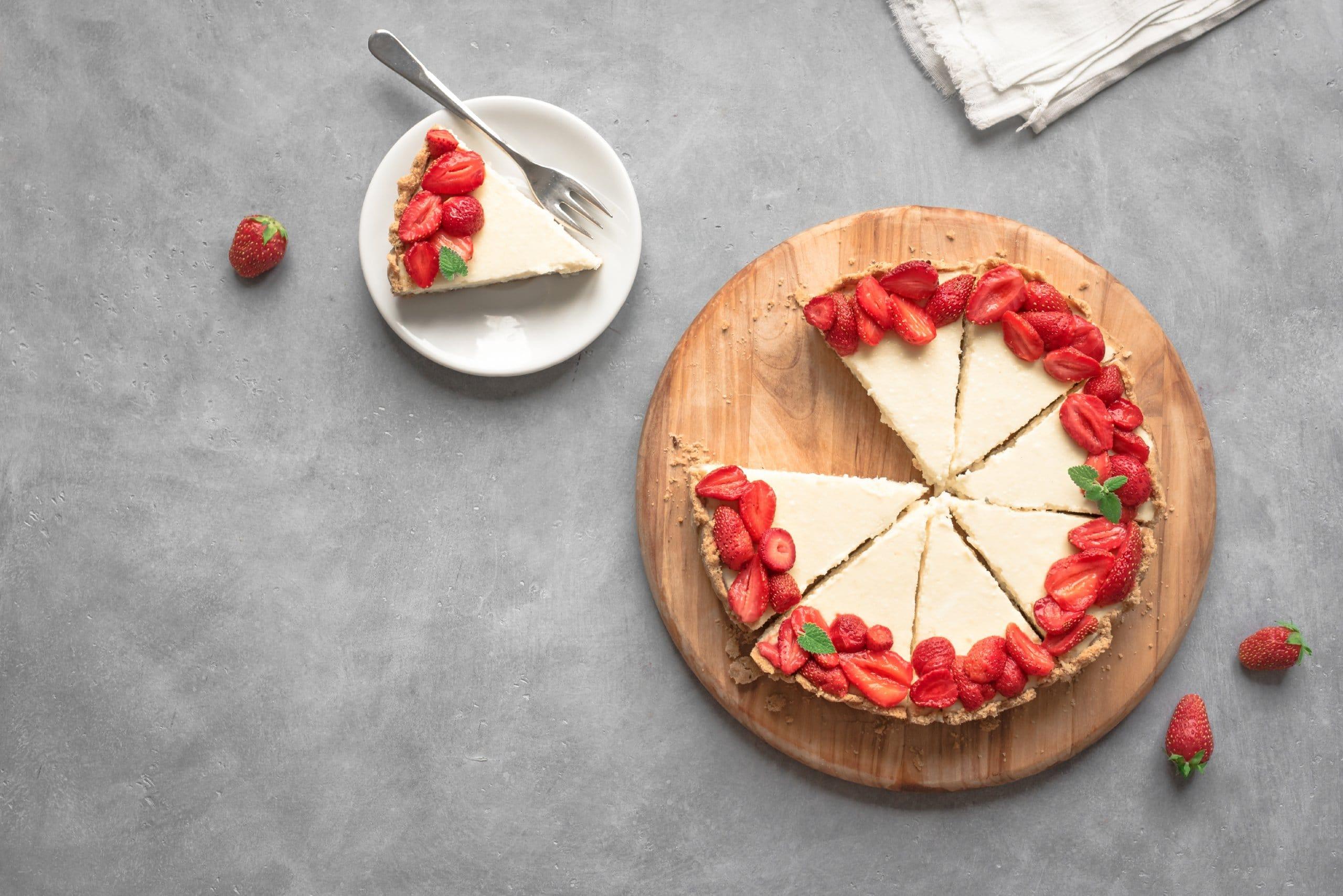 Rezept vegane Torte Cheesecake