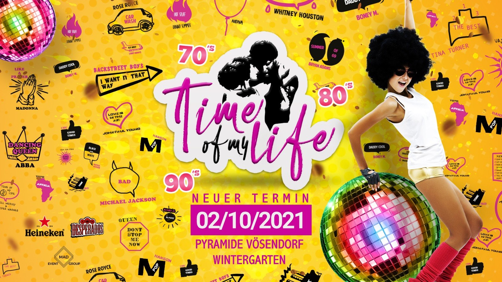 Events Wien: Time of my Life XXL – Pyramide Vösendorf Wintergarten