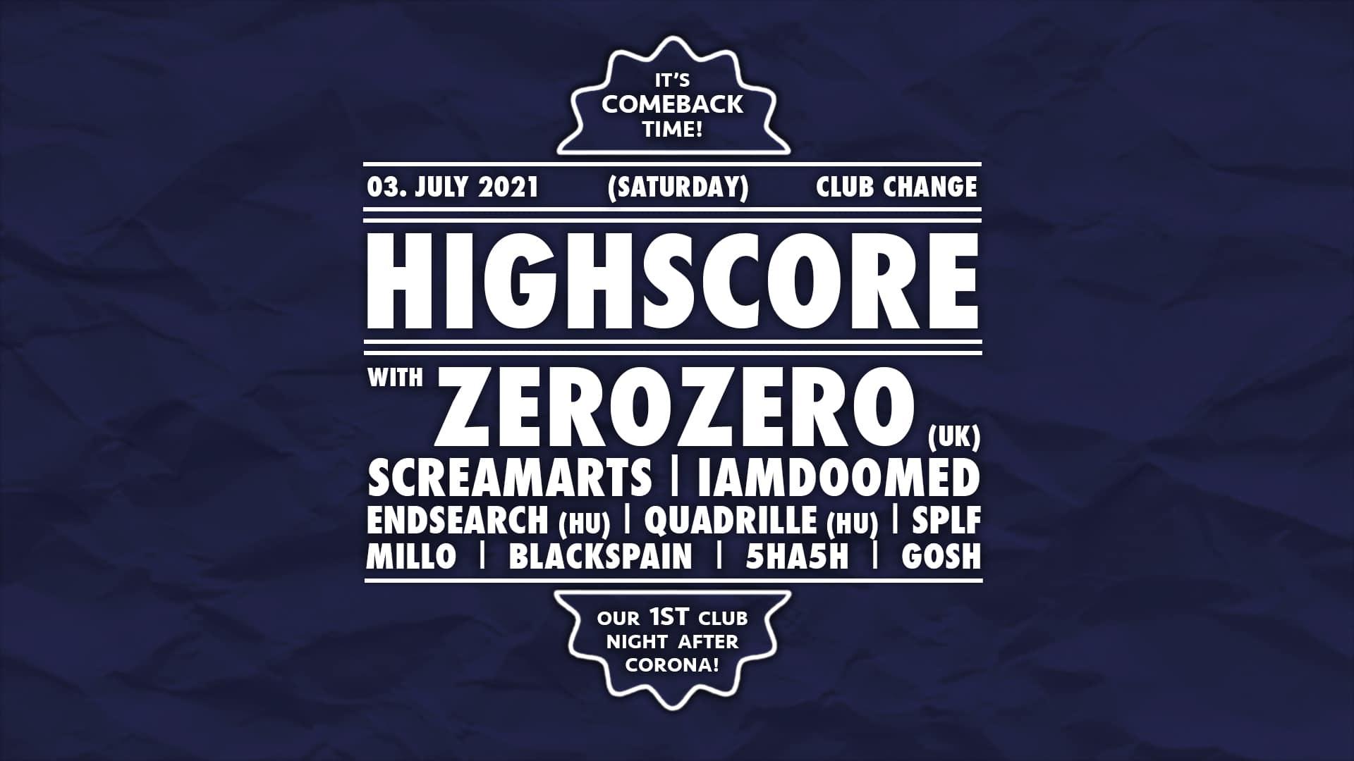 Events Wien: HIGHSCORE >< COMEBACK