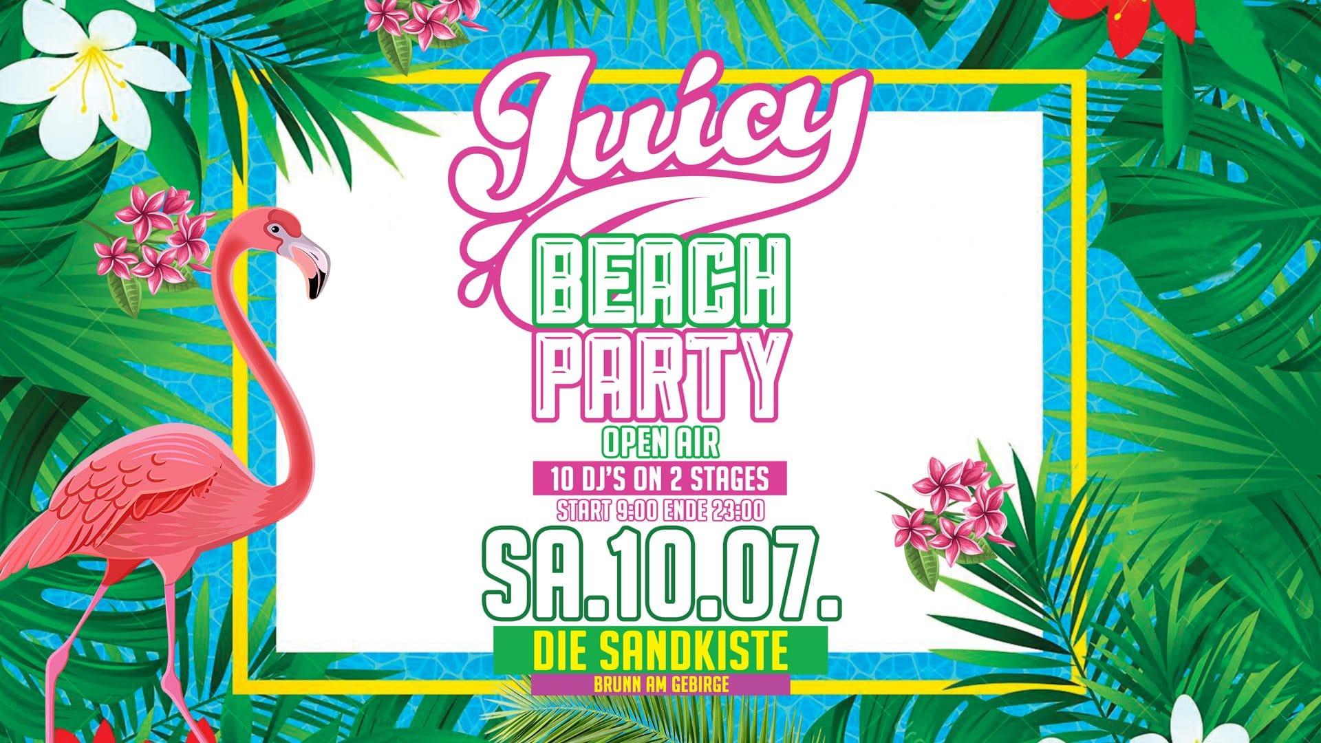 Events Wien: Juicy Beach Party – 10.07.2021 – Die Sandkiste