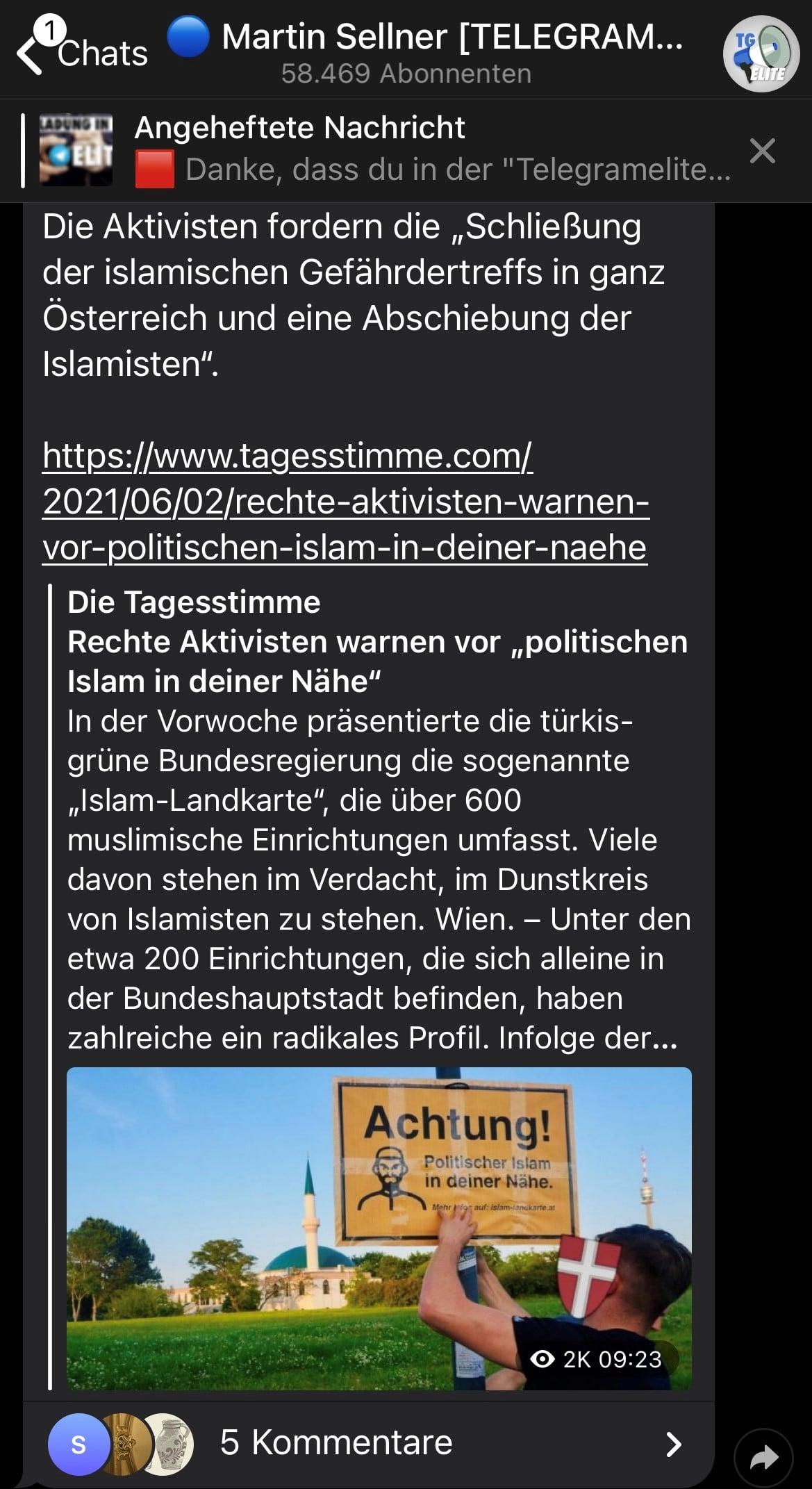 Islamlandkarte Sellner Martin Identitäre