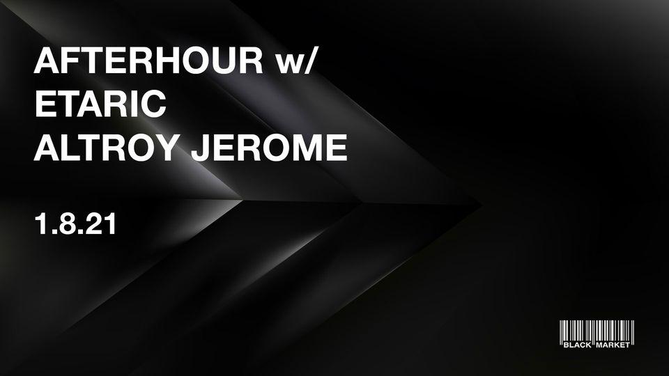 Events Wien: AFTERHOUR w/ ETARIC & ALTROY JEROME