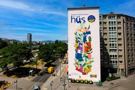 Emotion statt Emission: IKEA Österreich startet Kampagne mit CO2-absorbierender Street Art Wall