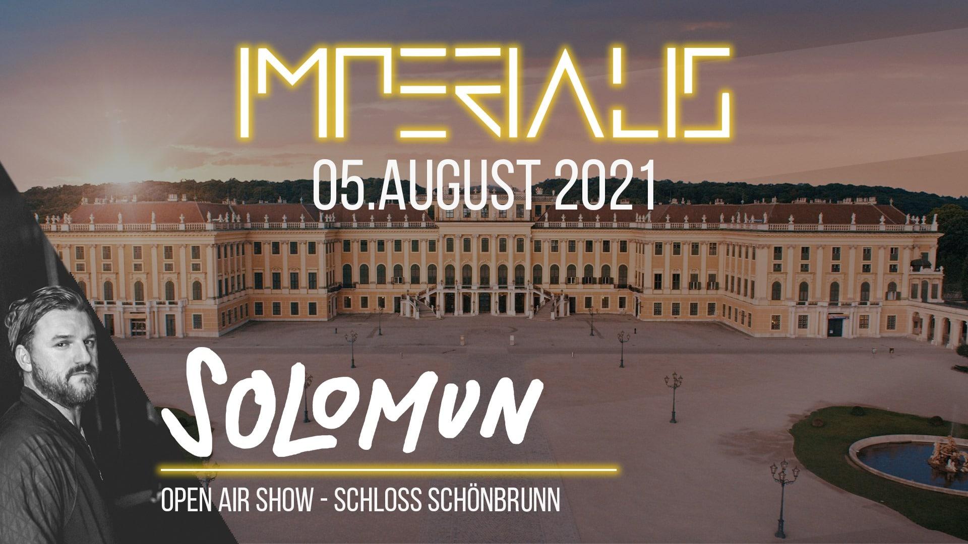 Events Wien: Solomun @ Imperialis – Schloss Schönbrunn [Open Air Show]
