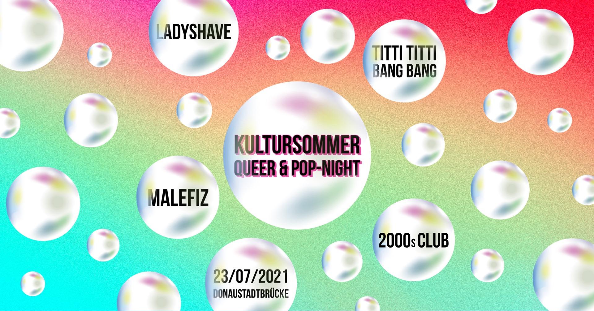 Events Wien: Kultursommer Queer & Pop-Night