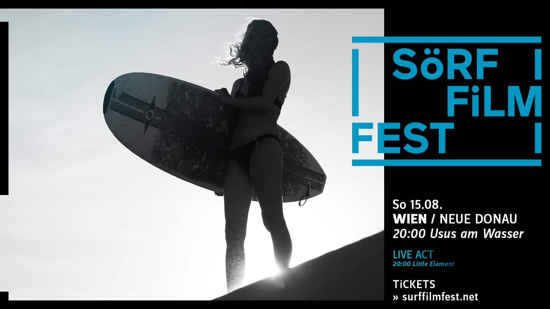 "Events Wien: SöRF FiLM FEST – Wien/Neue Donau // Live ab 20:00: ""Little Element"""