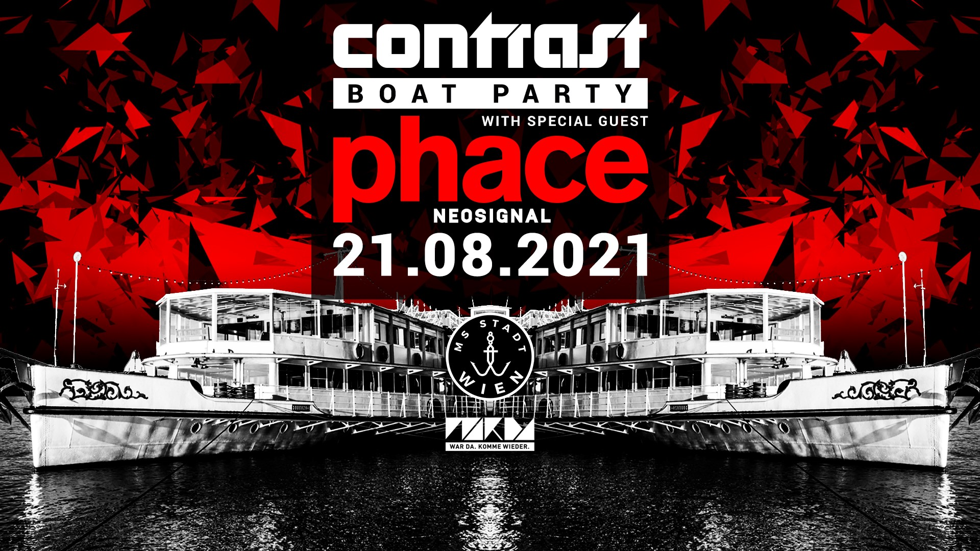 Events Wien: CONTRAST BOAT PARTY w/ PHACE