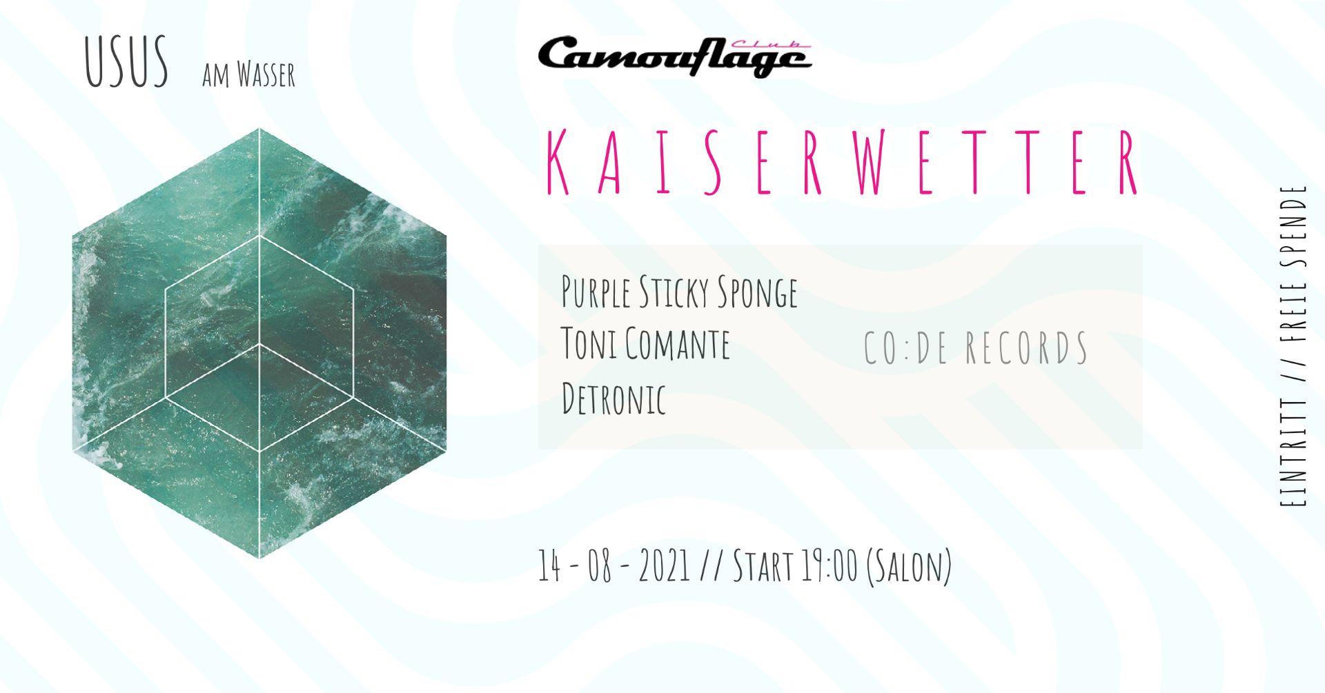 Events Wien: Kaiserwetter // Free Party // USUS am Wasser