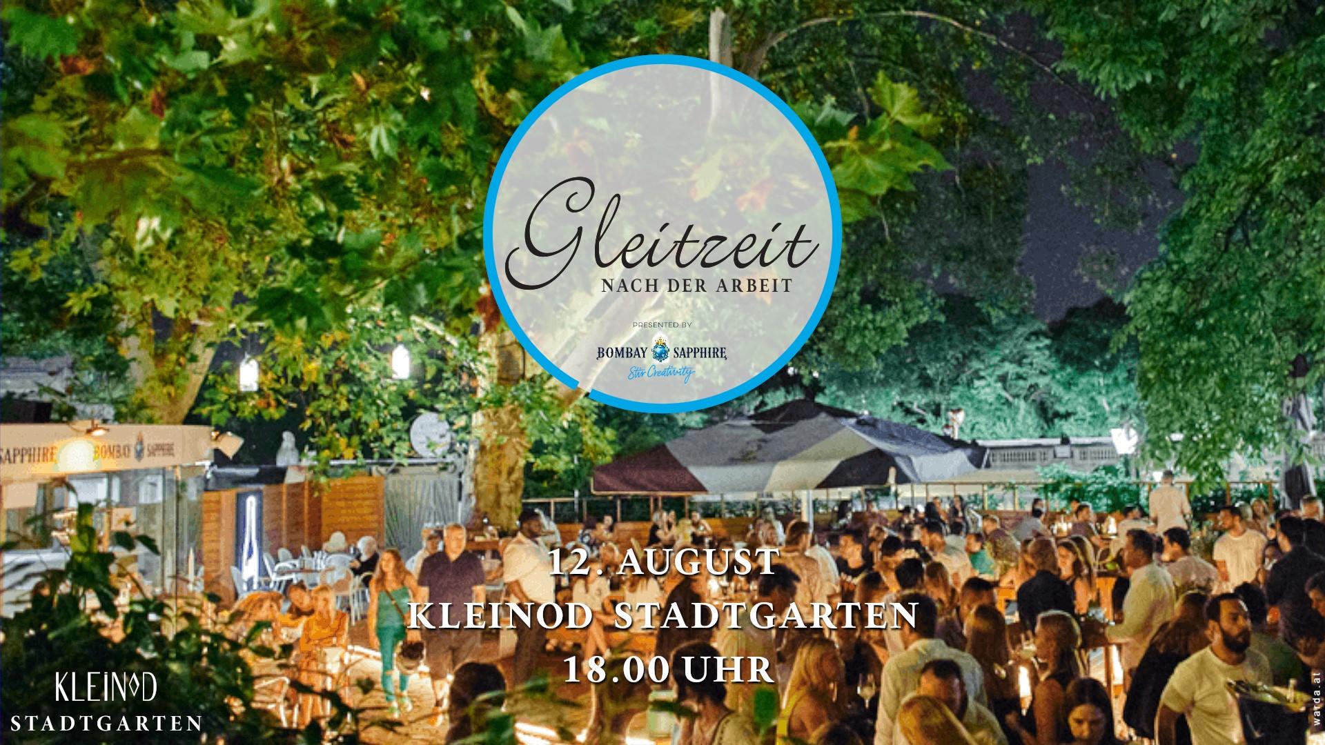 Events Wien: Gleitzeit Afterwork im Kleinod Stadtgarten – 12. August
