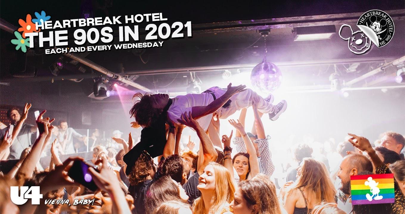 Events Wien: Heartbreak's 90S in 2021 | U4 – Mittwoch 18. August – 22:00