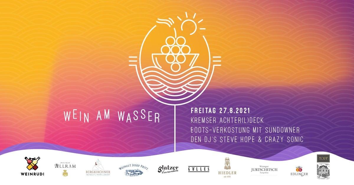 Events Wien: WEIN am Wasser-Kremser Achterldeck-Bootsfahrt