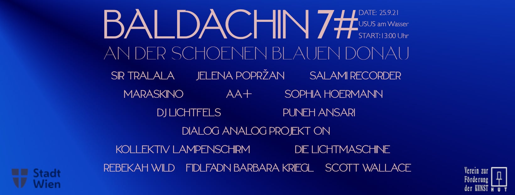 Events Wien: Baldachin 7# An der schönen blauen Donau