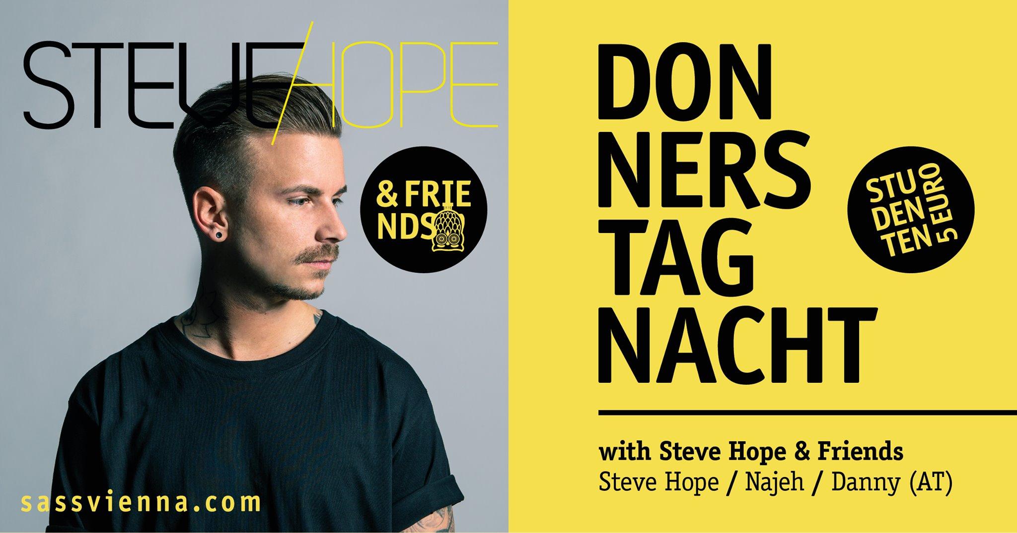 Events Wien: Donnerstag-Nacht mit SteveHopeAndFriends