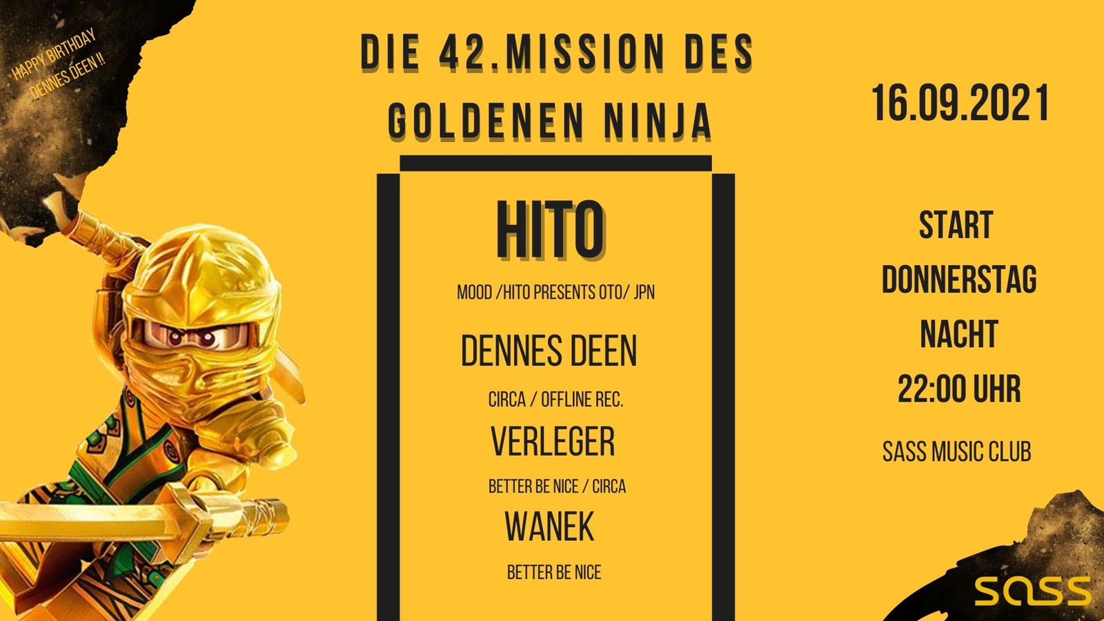 Events Wien: Die 42.Mission des goldenen Ninja (DD Bday)