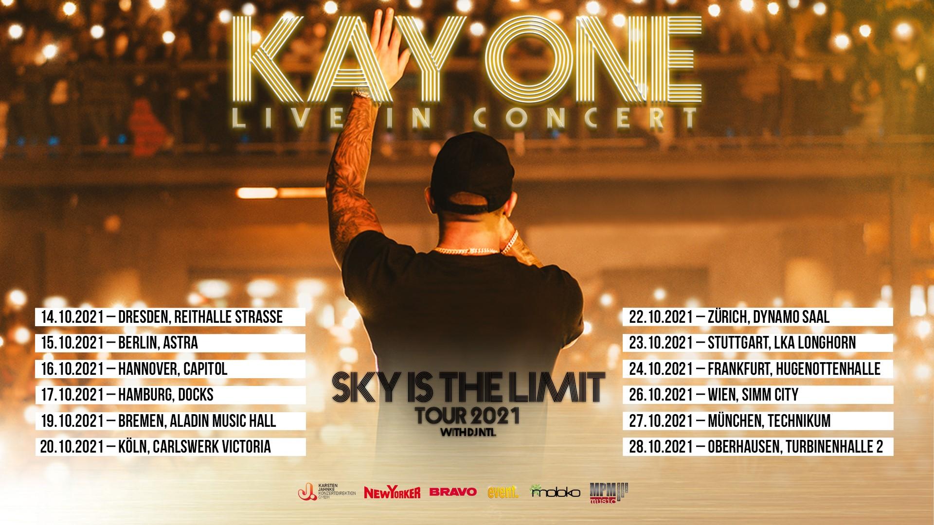 Events Wien: Kay One // Sky Is The Limit Tour 2021 // Wien