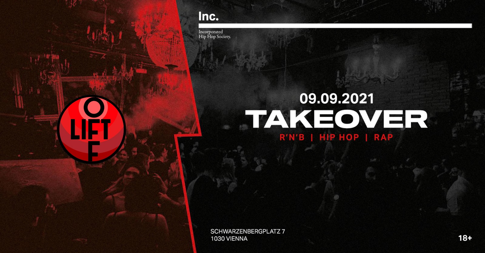 Events Wien: TAKEOVER ▌09.09.2021 ▌Inc.