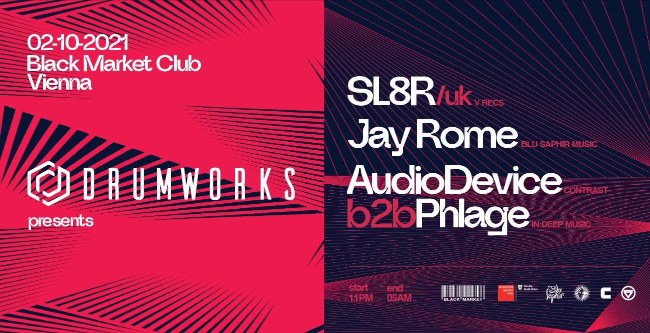 Events Wien: Drumworks presents SL8R (V Recs, UK) @ Black Market