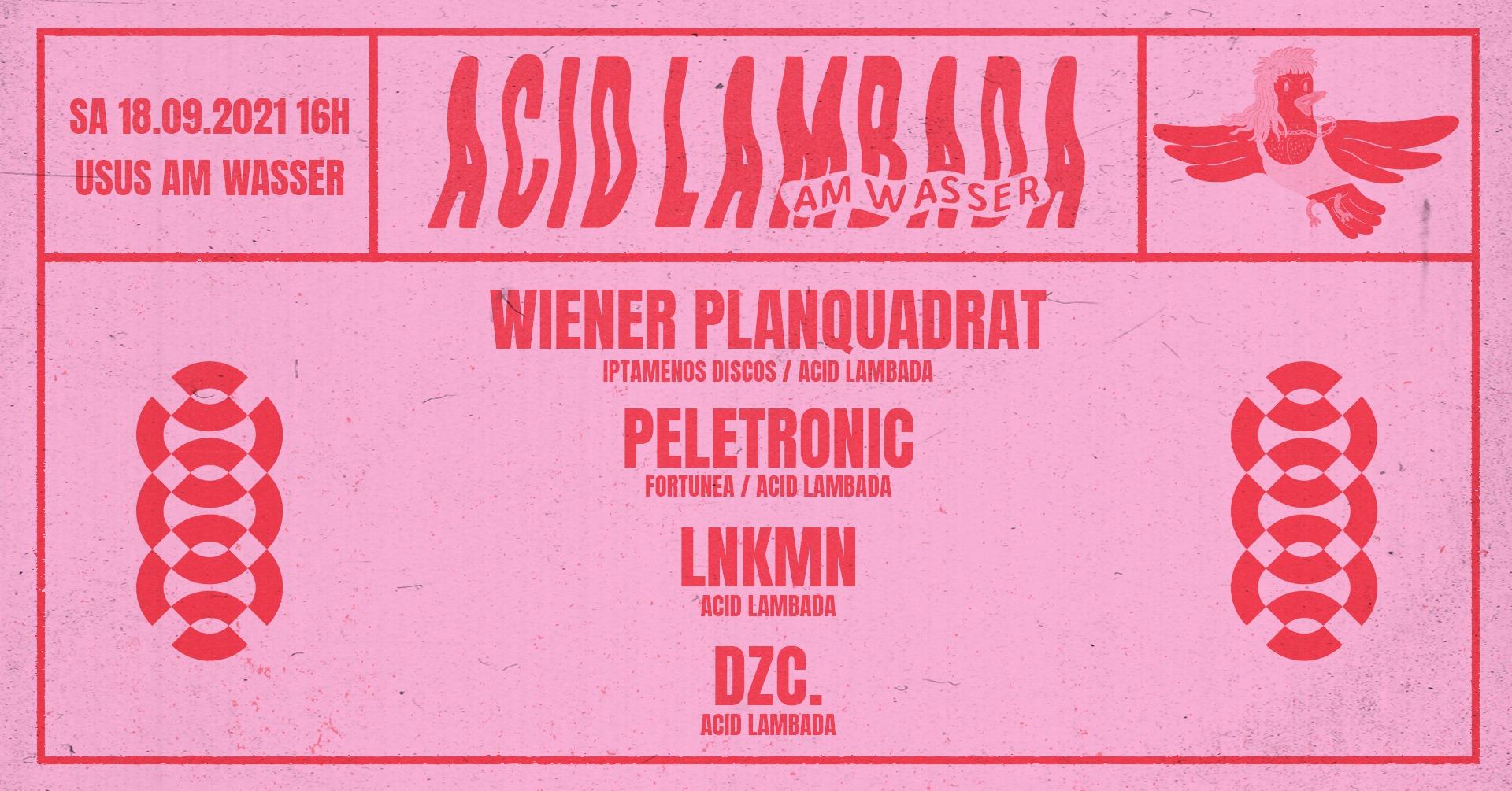 Events Wien: Acid Lambada am Wasser