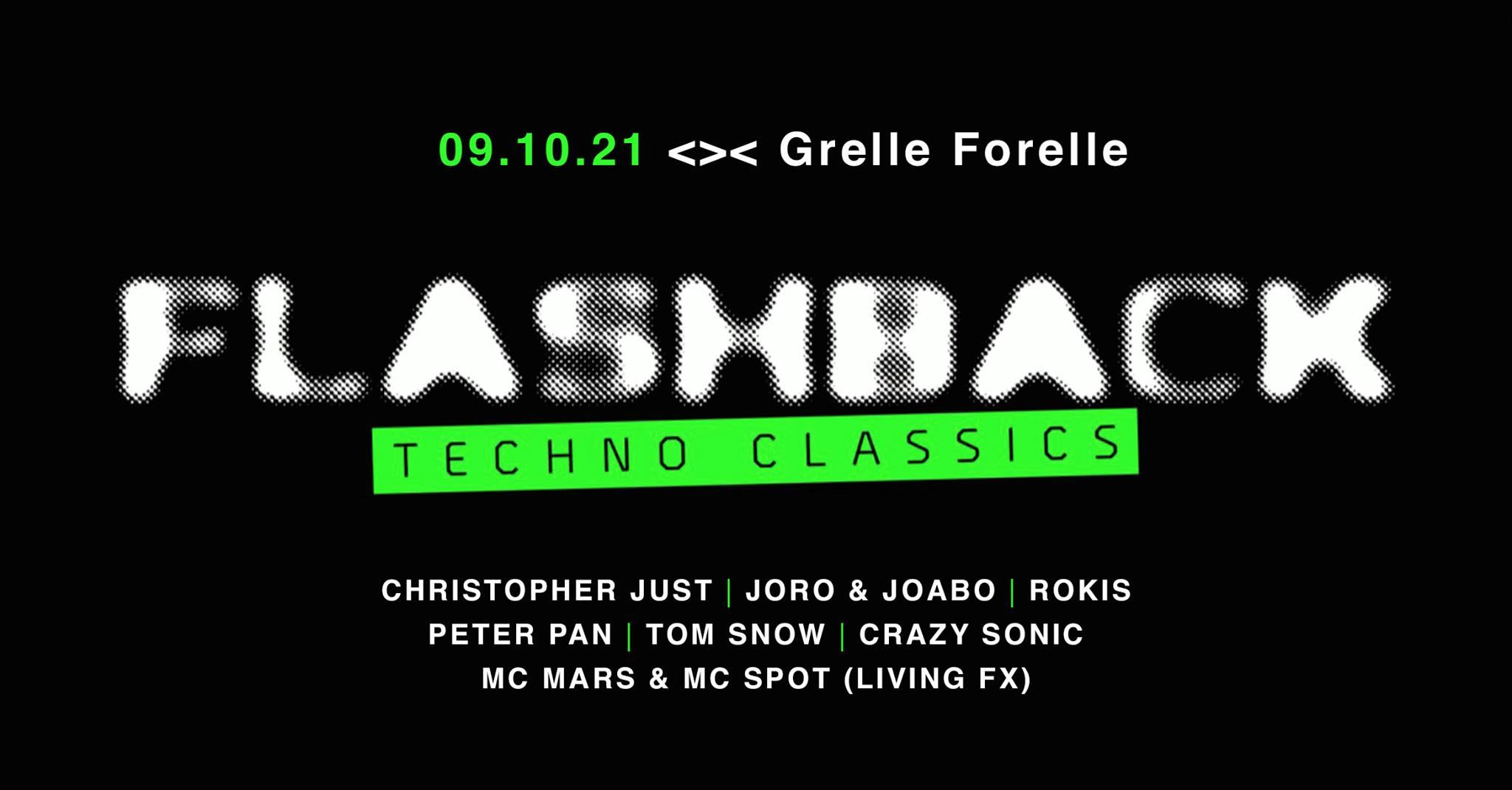Events Wien: FLASHBACK Techno Classics @ GRELLE FORELLE