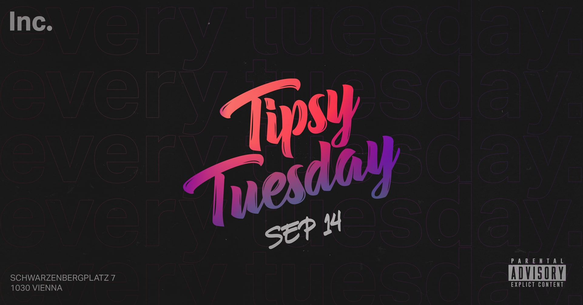 Events Wien: Every Tuesday is TIPSY TUESDAY