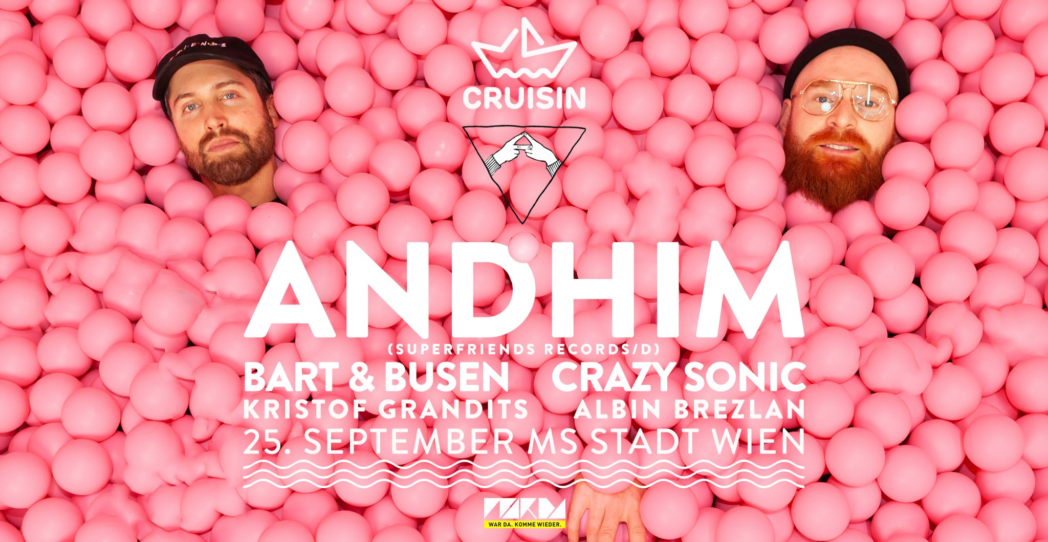 Events Wien: Cruisin Boat Party w/ Andhim