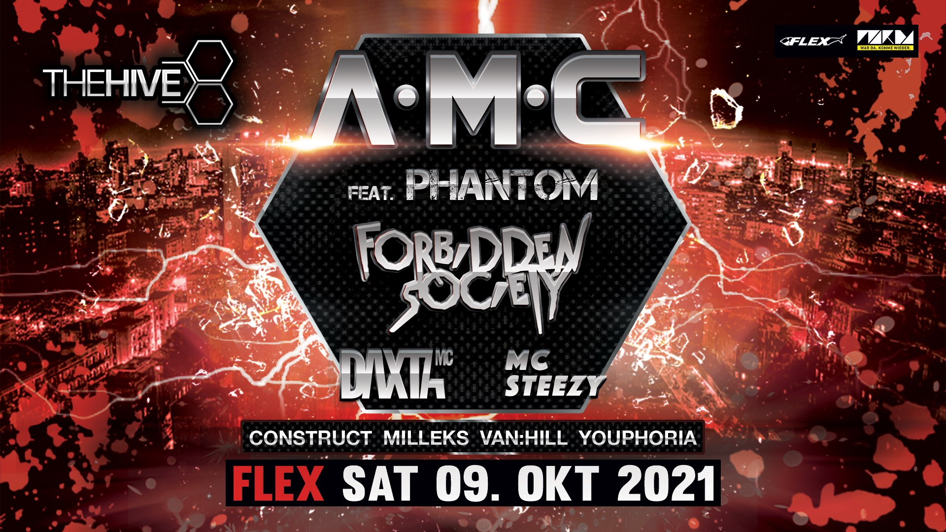Events Wien: THE HIVE pres. A.M.C feat. Phantom & Forbidden Society