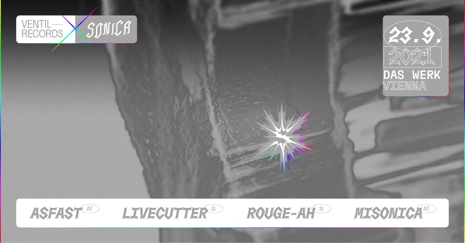 Events Wien: VENTIL RECORDS x SONICA FESTIVAL ::: Asfast / Lifecutter / Misonica / rouge-ah ::: more tba