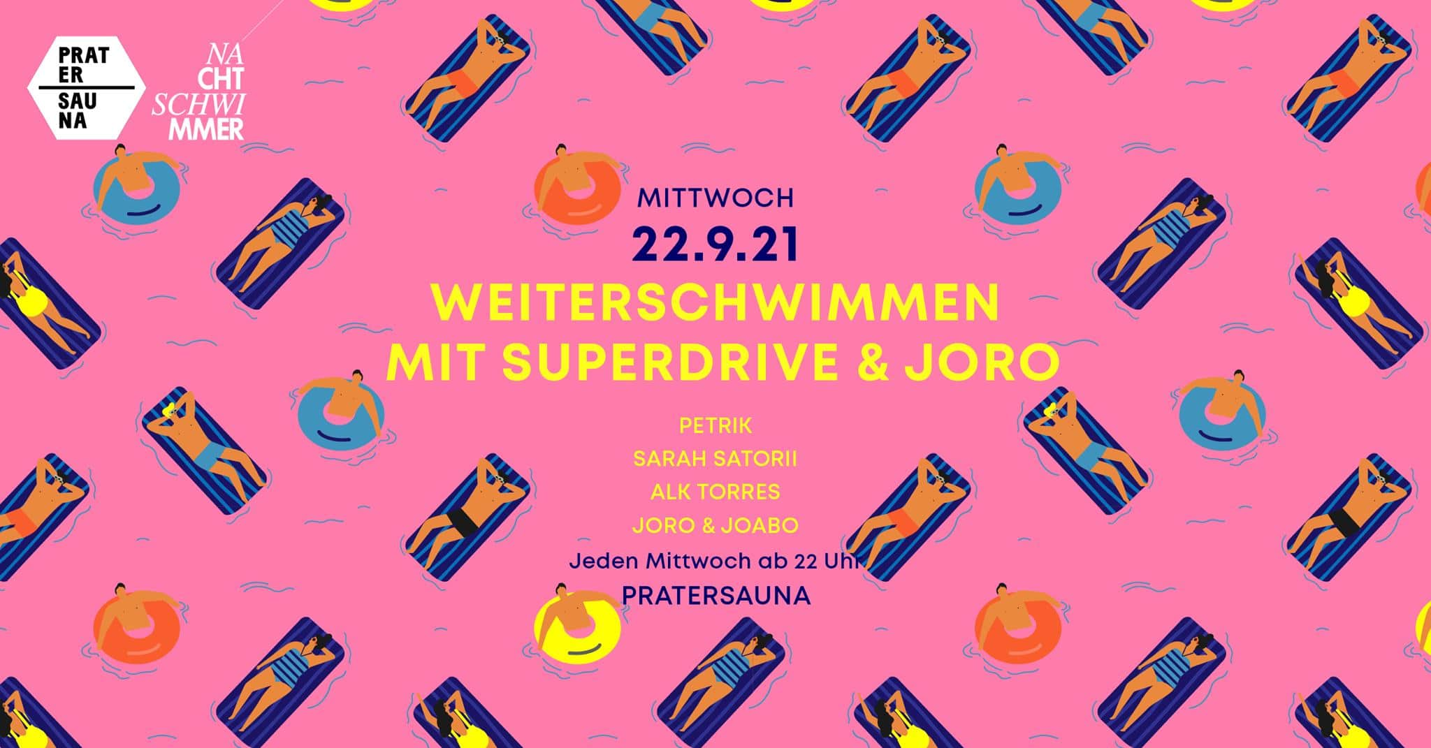 Events Wien: Nachtschwimmer w Superdrive & Joro