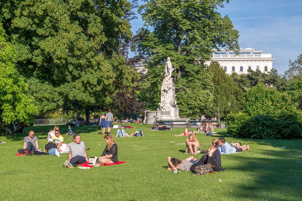 Burggarten Autofreier Platz Wien