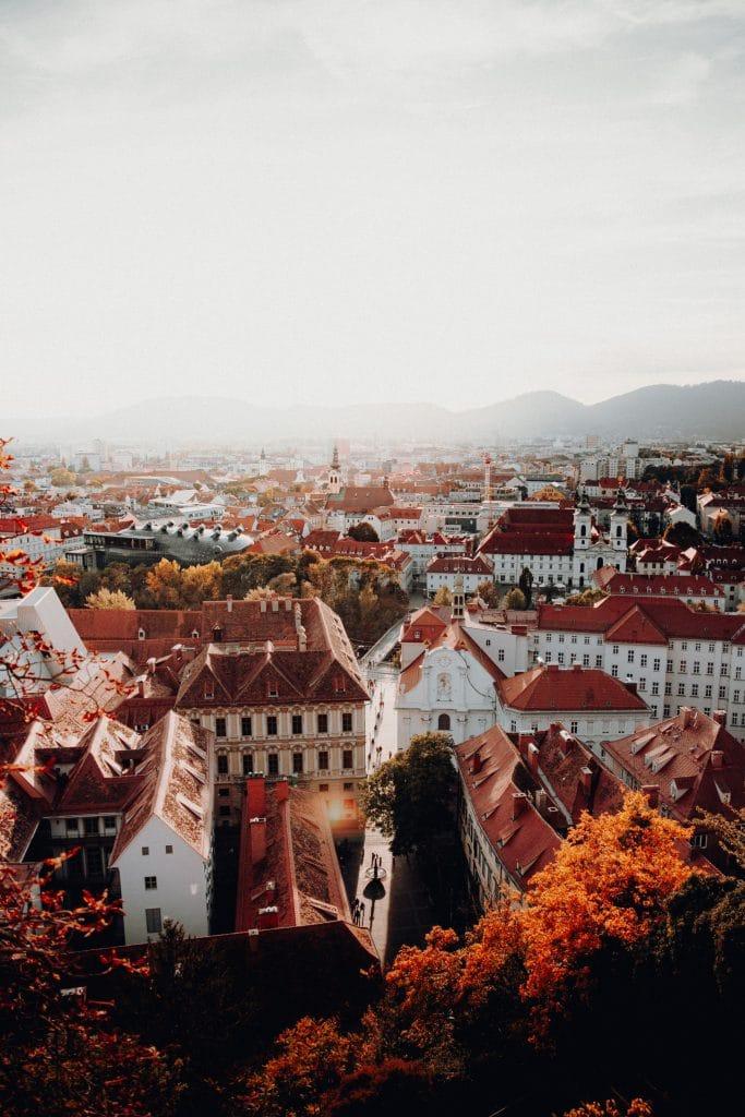 Herbst in Graz, Vogelperspektive