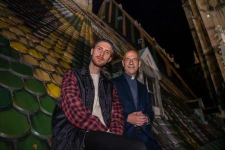 Toni Faber und Künstler Marcin Glod